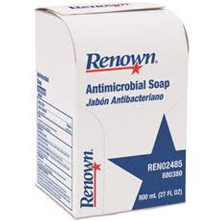 Renown 800 ml Antimicrobial Liquid Hand Soap Refill Clear Yellow to Amber