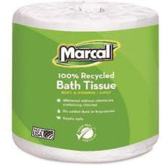 Marcal 100% Premium 2-Ply Recycled Embossed Toilet Tissue (48-Rolls Per Case)