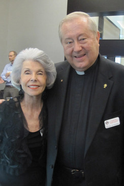 5. Nancy Marshall, Msgr Tom Skindeleski.