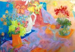 Flowers  2-2015  48 x 60