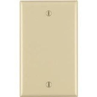 Leviton 1-Gang Blank Wall Plate, Ivory