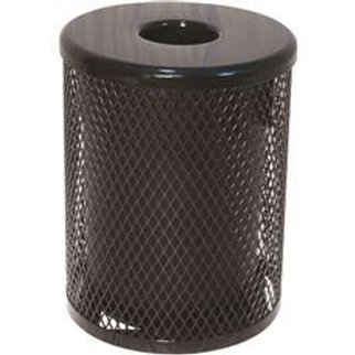 Everest 32 Gal. Black Trash Receptacle with Flat Top