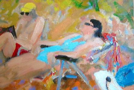 Beach Reading 1 8 x 10