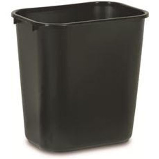 Rubbermaid Commercial Products 7 Gal. Black Rectangular Trash Can