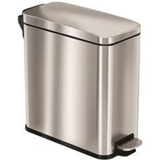 HLS COMMERCIAL 3 Gal. Stainless Steel Step Trash Can with Plastic Liner