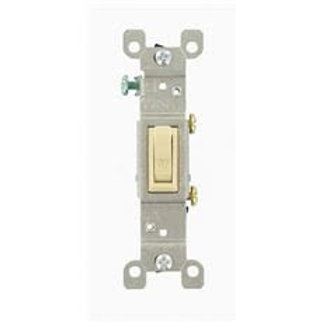 Leviton 15 Amp Single-Pole Toggle Switch, Ivory