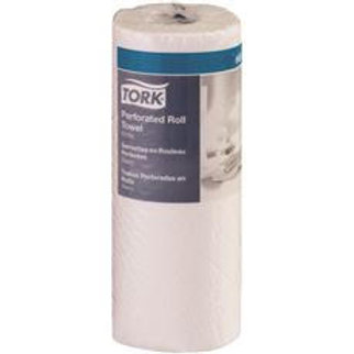 TORK Perforated White 2-Ply Paper Towel Roll