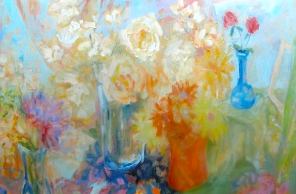 Potpourri with Blue 48 x 60