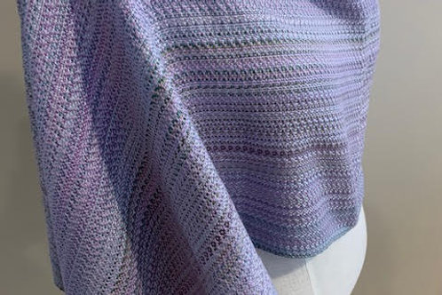 Handwoven Silk Wrap in a Crepe twill pattern