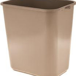 IMPACT PRODUCTS 28 Qt. Soft-Sided Beige Plastic Wastebasket