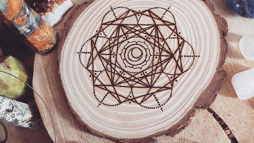 Sacral Chakra Crystal Grid