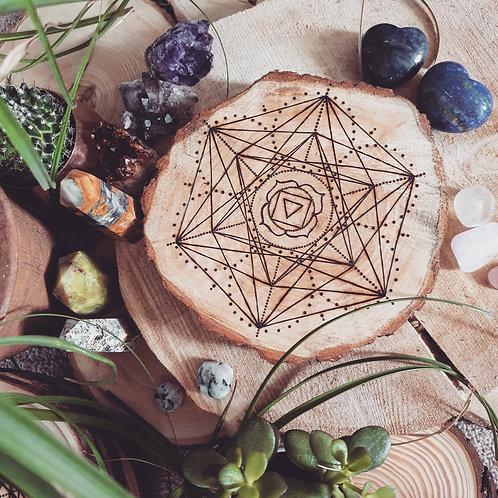 Root Chakra Crystal Grid