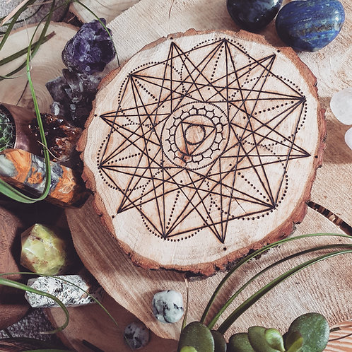 Throat Chakra Crystal Grid