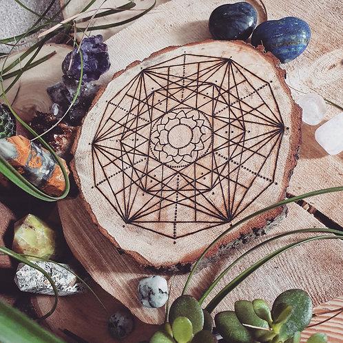 Crown Chakra Crystal Grid