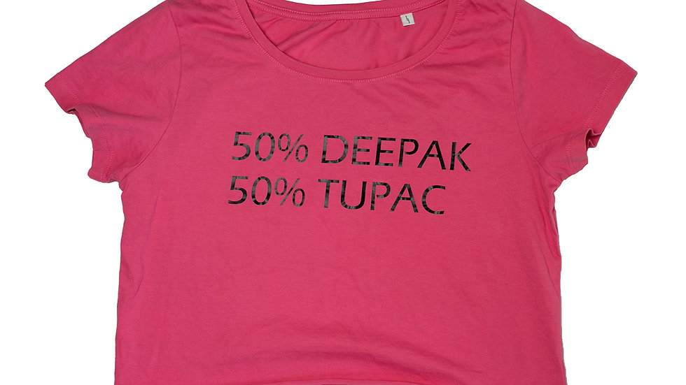 Pink Organic Cotton Cropped T-Shirt