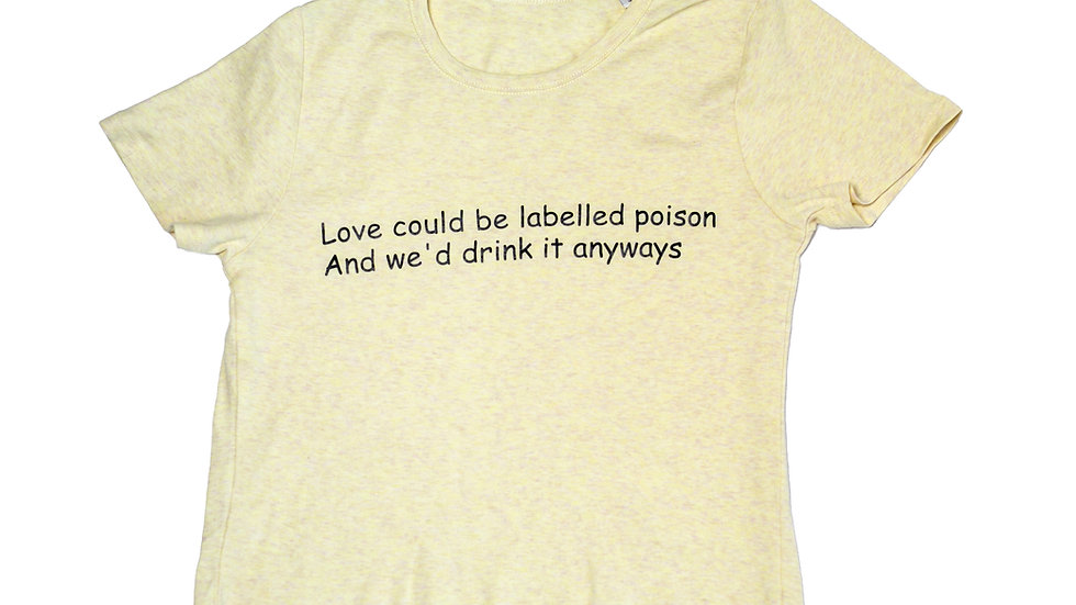 Yellow Organic Cotton Cropped T-Shirt