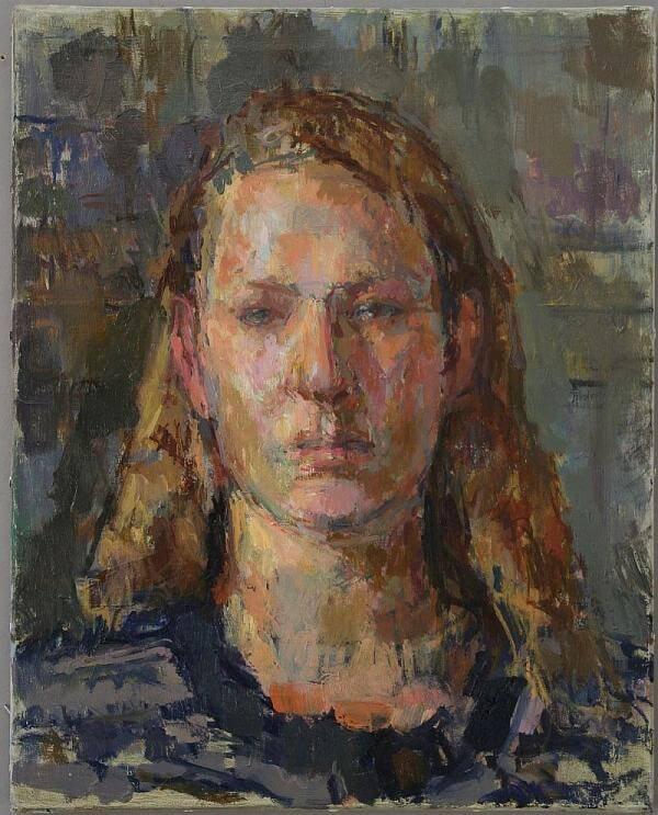 Daniel Shadbolt Portrait Painting in oil
