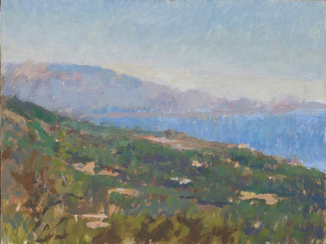 Alex Fowler Painting the Landscape
