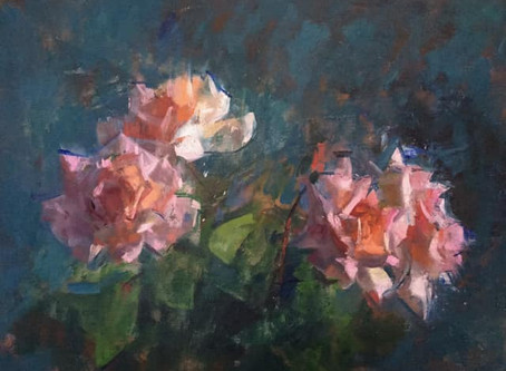 James Bland NEAC  Structure and Abstraction in Flowers In Oils