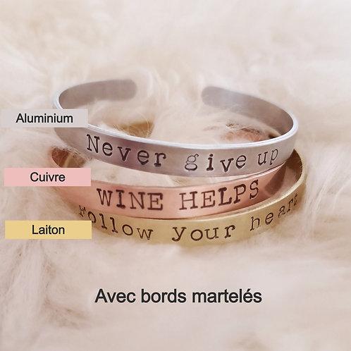 """""""Bords Martelés"""" - Personnalisable"""
