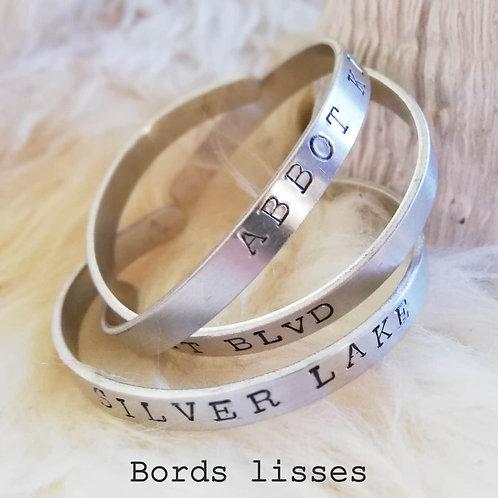 """Bracelet personnalisable """"Bords Lisses"""""""
