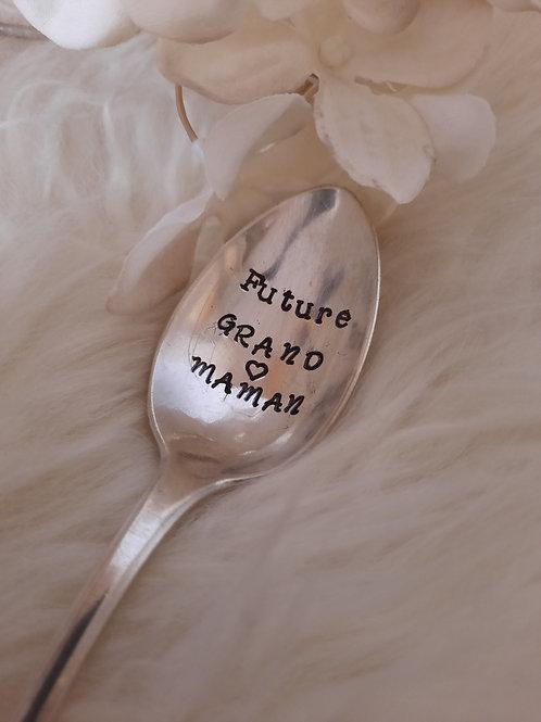 """Cuillère """"future grand-maman"""""""