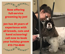 Now offering full-service grooming with