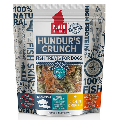Plato Pet Treats Hundur's Crunch Jerky Fingers 3.5 oz