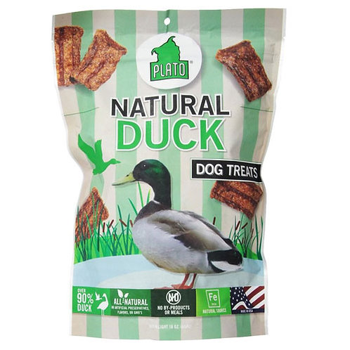 Plato Pet Treats Natural Duck Strips 6 oz.