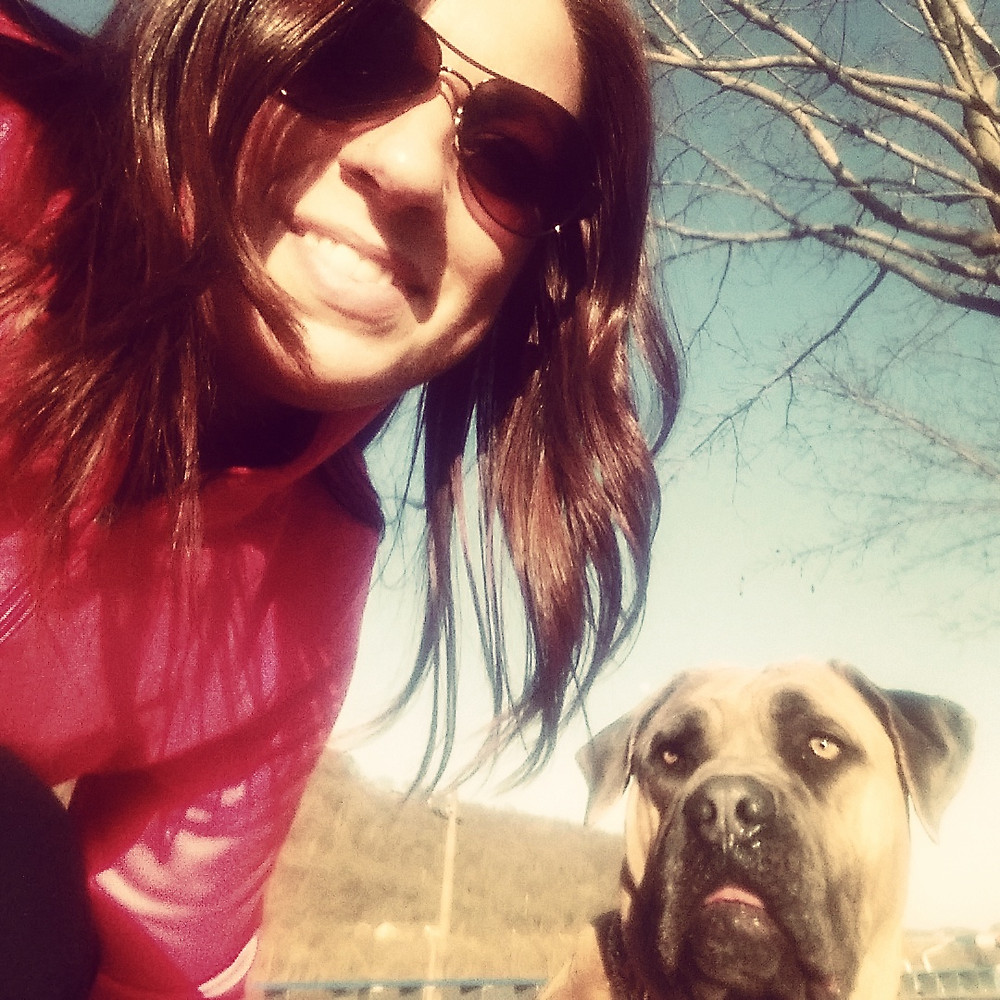 Fina and I enjoying our walk