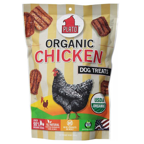 Plato Pet Treats Organic Chicken 6 oz