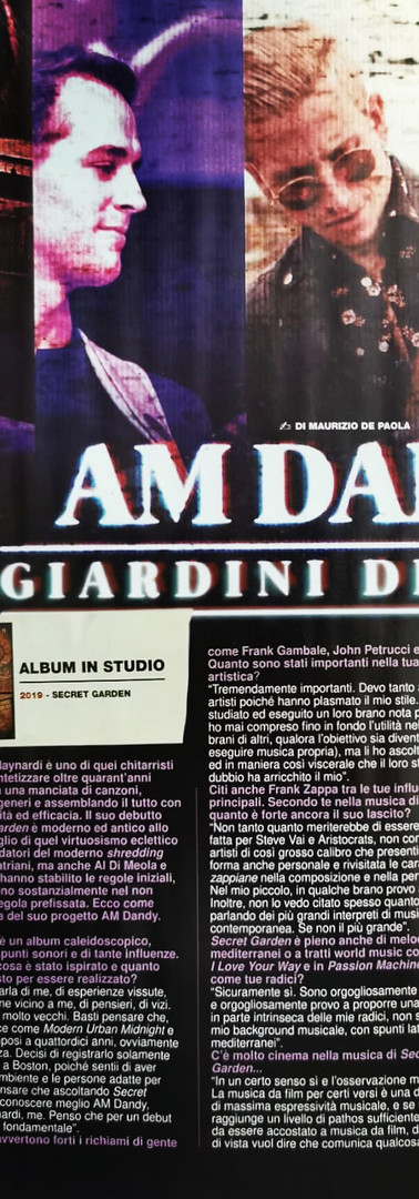 AM Dandy interview Rock Hard Italy
