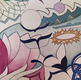Du lotus à la couronne de grenat