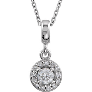 Round Diamond Halo Pendant