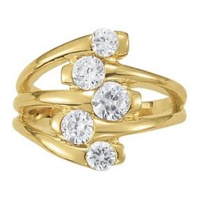 Yellow Gold Diamond Right Hand Ring