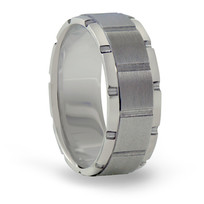 Brick Style Tungsten Ring