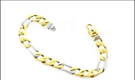 Two-Tone Figaro Bracelet