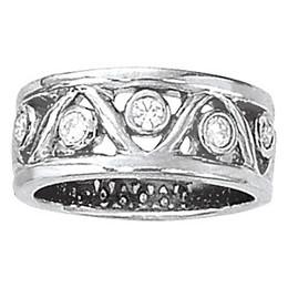Bezel Set Diamond Right Hand Ring