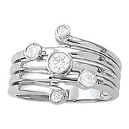 Scattered Multi-Sized Diamond Right Hand Ring
