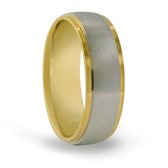 Two-Tone Customizable Comfort Fit Ring