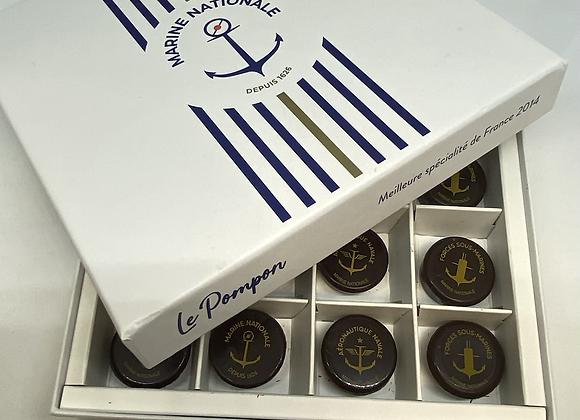 Boîte 16 chocolats marine nationale