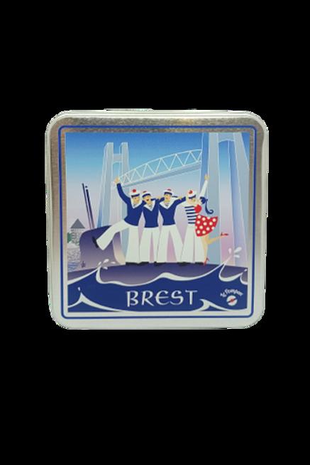 5 Boîtes de galettes Pompons Brest