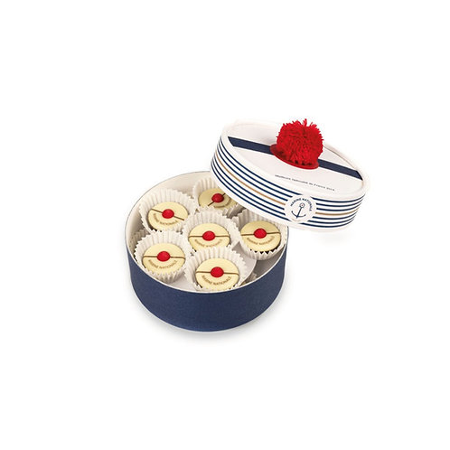 "5 Boîte de 12 Pompons""Marine Nationale"""