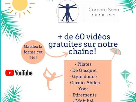 Cours sportifs en vidéo!
