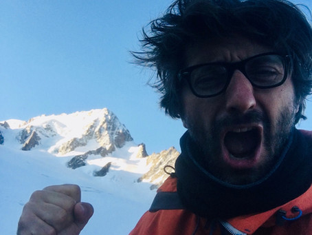 François en haut du Mont-Blanc!