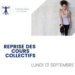 REPRISE COURS COLLECTIFS!