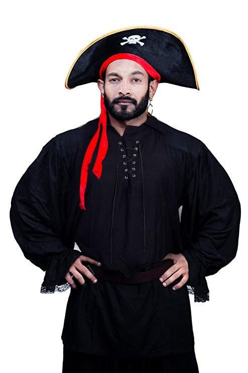 Pirategothic Black Pirate Fantasy Shirt Costume