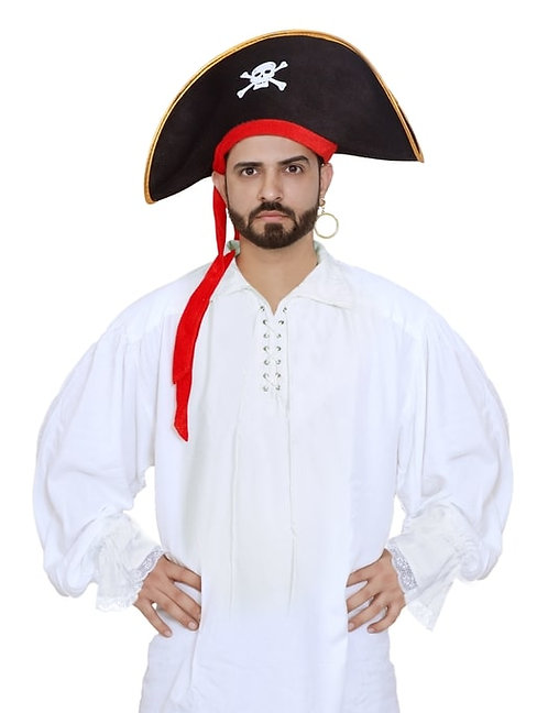 Men's Medieval Poet's Cosplay Pirate Shirt Costume