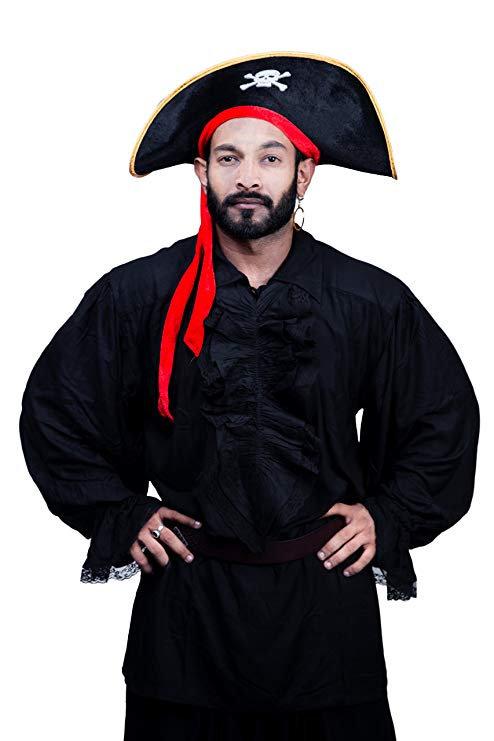 Black Medieval Renaissance Lace Pirate Shirt