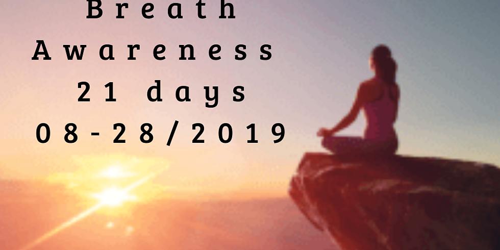 Free 21 day Breath Awareness on FB
